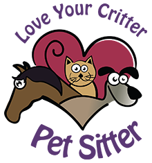 Love Your Critter Pet Sitter Logo